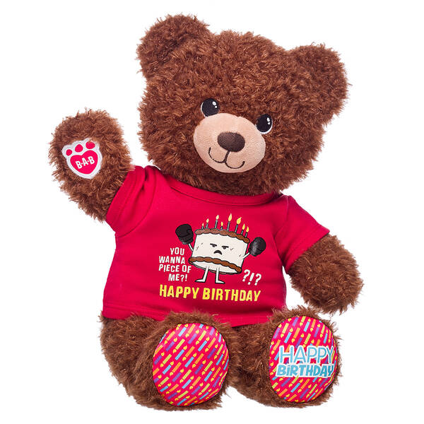 Online Exclusive Birthday Bear Cake Gift Set, , hi-res