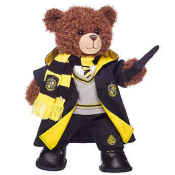 Harry Potter Bear Hufflepuff Gift Set with House Robe, Scarf, Hogwarts Pants & Wand, , hi-res