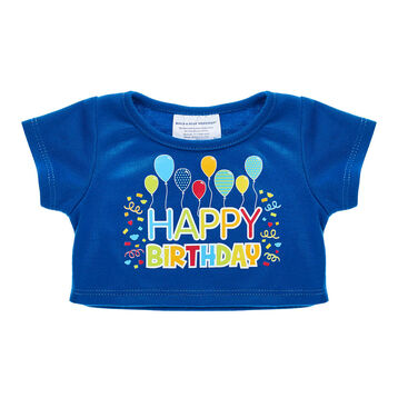Happy birthday! Send well wishes to the birthday boy with a furry friend dressed in this celebratory birthday T-shirt.