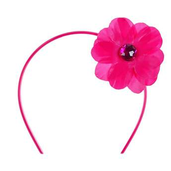 Subtle and stylish, this pink floral headband is an adorable hair accessory that's sure to make any furry friend's outfit blossom! The decorative pink flower with a gem in the center goes with a variety of other accessories and outfits.