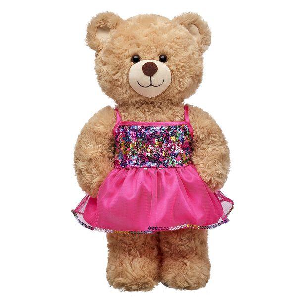 Pink Rainbow Sequins Dress, , hi-res