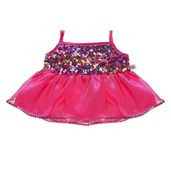 Pink Rainbow Sequins Dress, , hi-res