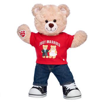 Online Exclusive Happy Hugs Teddy Just Married Groom Gift Set, , hi-res