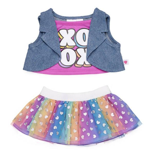 XOXO Rainbow Skirt Set - Build-A-Bear Workshop®