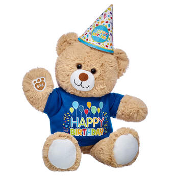 Cuddly Brown Bear Birthday Party Gift Set, , hi-res