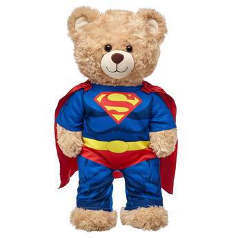 """Your furry friend can protect Metropolis in this two-piece Superman costume. The blue costume features Superman's iconic """"S"""" on the chest and includes a red cape. Start an adventure today! ™ & © DC Comics. (s13)"""