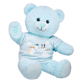 Online Exclusive Blue Baby Bear Stork Gift Set, , hi-res