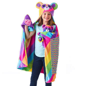 Fuzzy Rainbow Panda & Big Hugs Blanket Set, , hi-res