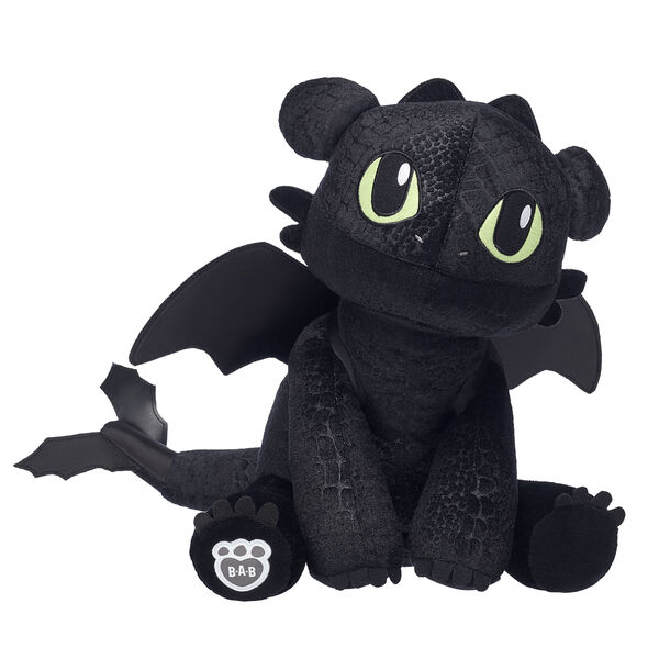 black toothless dragon stuffed animal from How to Train Your Dragon: The Hidden World