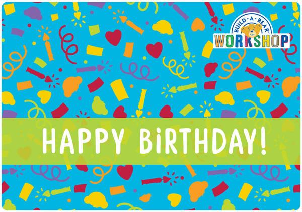 Happy Birthday Gift Card - Build-A-Bear Workshop®
