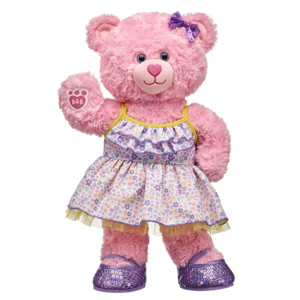 Pink Cuddles Teddy Flower Gift Set, , hi-res