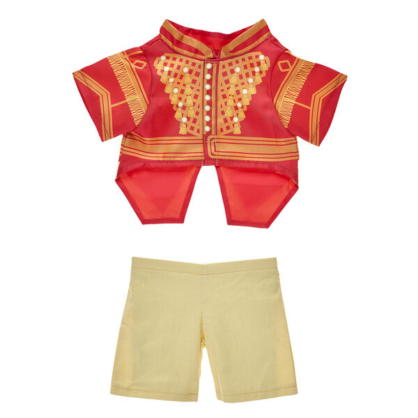 "Now your furry friend can march just like a toy soldier from Disney's ""The Nutcracker and the Four Realms""! Dressing a furry friend in this two-piece red and gold costume is a fun way to relive the magic of this timeless tale."