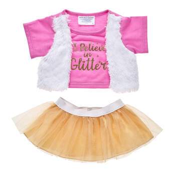 I Believe in Glitter Skirt Set 2 pc. - Build-A-Bear Workshop®