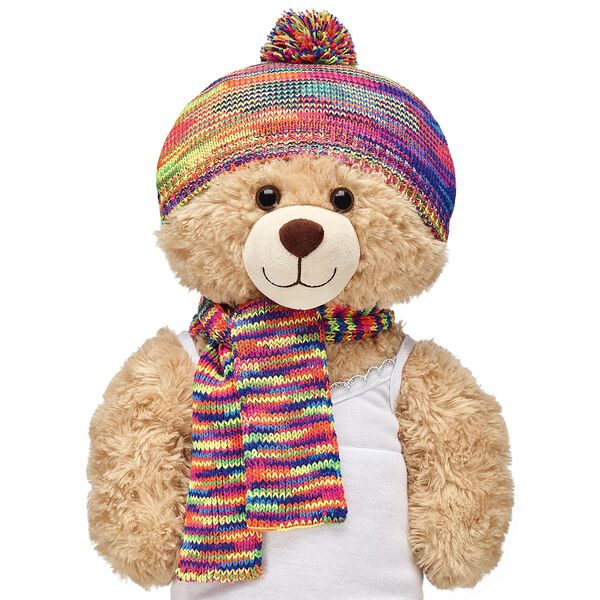 Rainbow Hat & Scarf Set 2 pc., , hi-res