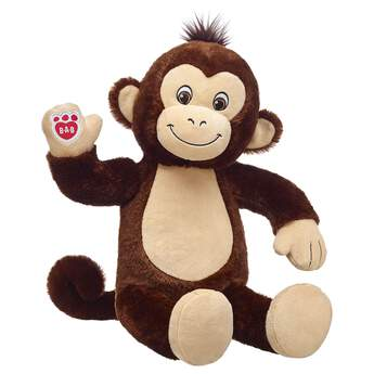 monkey stuffed animal sitting