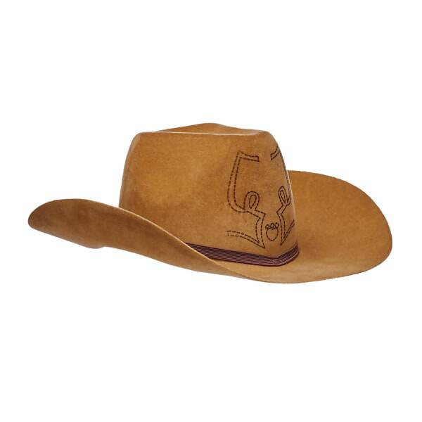 54ef92117313e Your furry friend will be ready for the open trails with this classic  Cattleman style cowboy. Brown Cattleman Cowboy Hat ...