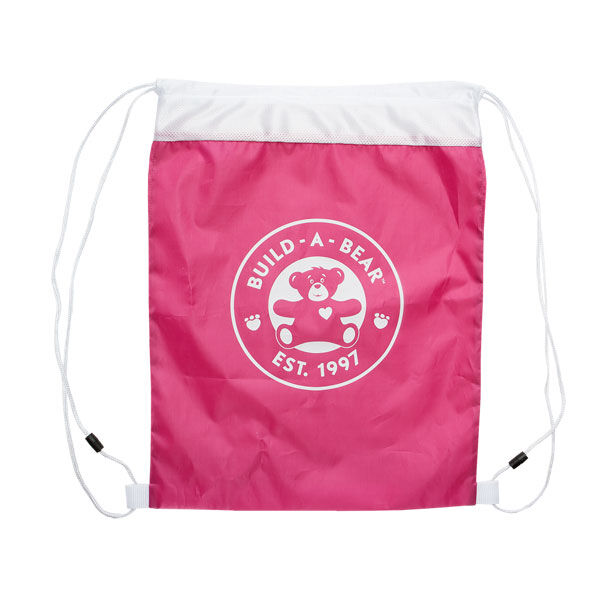 Fuchsia Reusable Drawstring Backpack, , hi-res