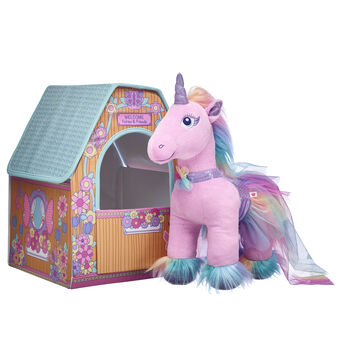 Online Exclusive Pink Unicorn Fairy House Gift Set, , hi-res