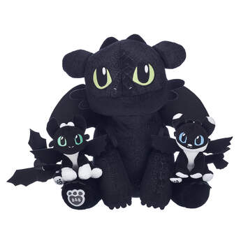 Toothless & Nightlights How To Train Your Dragon Stuffed Animal Gift Set