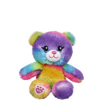Best friends come in all shapes and sizes – and now your Rainbow Friend can take a lil' buddy along for the ride! See the world through a colourful lens when you're having fun with Build-A-Bear Buddies Rainbow Friends. This mini rainbow teddy bear can be held by your full-sized Rainbow Friends stuffed animals. You can even carry around your buddy in special mini backpacks! NOTE: This item cannot be purchased unstuffed, nor can stuffing adjustments be made. A sound or scent cannot be placed inside this pre-stuffed item.