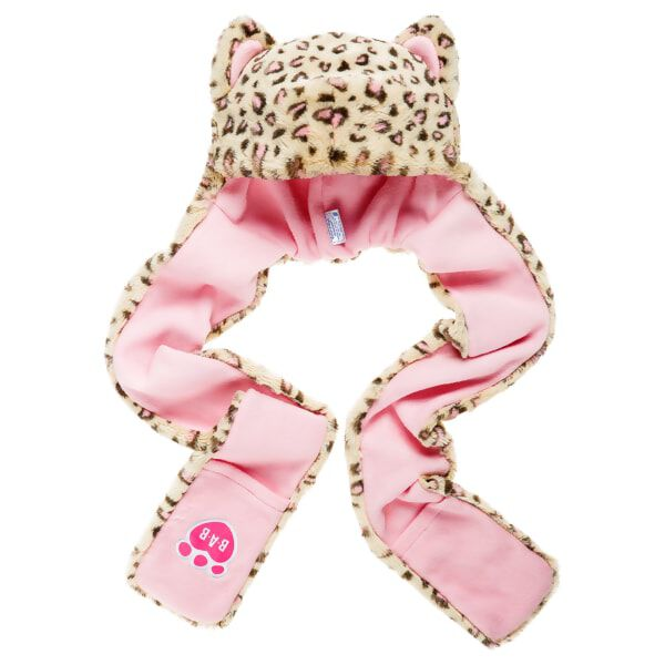 Kid's Snow Leopard Hat Scarf & Mittens All-in-One, , hi-res