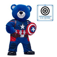Captain America Bear with Costume and Sound, , hi-res