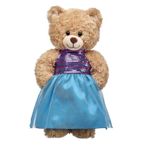 Turquoise Sequin Dress, , hi-res