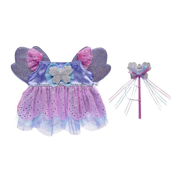 Take your furry friend's playtime fashions to imaginative new heights with this adorable butterfly fairy costume for stuffed animals. Outfit a furry friend online to make the perfect gift. Make your own your own stuffed animal online with our Bear Builder or visit a store near you.