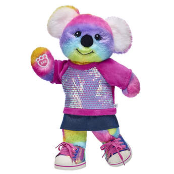 All the way from the Rainbow Outback, this cuddly stuffed animal makes a KOALITY gift set for animal lovers of all ages! Colour Craze Koala looks super cute in its sequin top, skirt and rainbow shoes. It's a gift set that will put a smile on anyone's face!