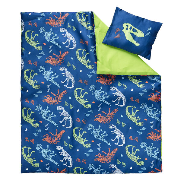 Your furry friend can dig up some sweet dreams in this charming stuffed animal sleeping bag! This blue sleeping bag features an all-over dino pattern. Personalise a furry friend to make the perfect gift. Shop online or visit a store near you!