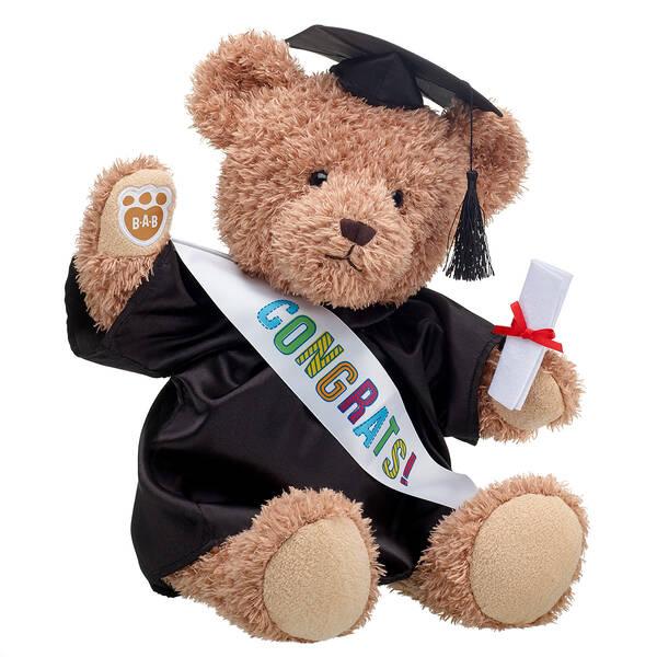 Everlasting Teddy Black Graduation Gown Gift Set, , hi-res