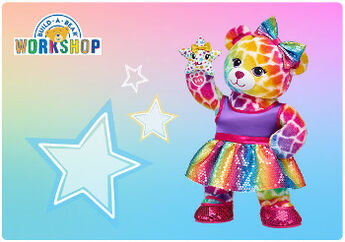 Give hugs in every color of the rainbow with an E-Gift Card to Build-A-Bear Workshop!