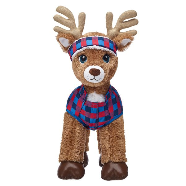 Reindeer Puffer Coat & Headband Set 2 pc., , hi-res