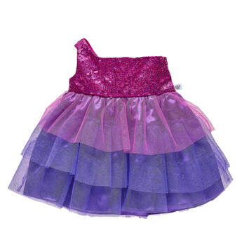 Sparkly Purple Gown - Build-A-Bear Workshop®