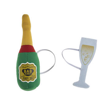 Online Exclusive Build-A-Bear Bubbly Plush Champagne and Glass Set - Build-A-Bear Workshop®