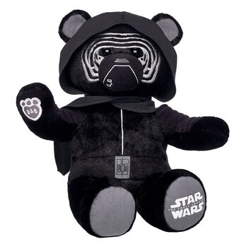 The First Order is on the rise, and this dark lord is leading the uprising! The Kylo Ren Bear features the character's iconic mask, hood with cape.