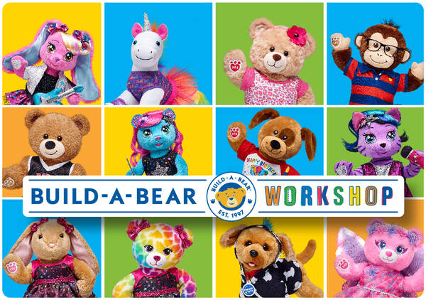 Give the gift of FUN with a Build-A-Bear Workshop E-Gift Card! Each furry friend is stuffed with love and makes a perfectly personalized gift for someone special.