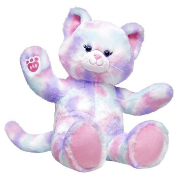 Pounce into a colourful whirl of feline fun with Pastel Swirl Kitty! With fur that's a soft blend of pink, purple and blue colours, this adorable little kitten loves playtime and cuddles. Make your own Pastel Swirl Kitty and personalise with cute outfits and accessories to make this cuddly kitten your very own!