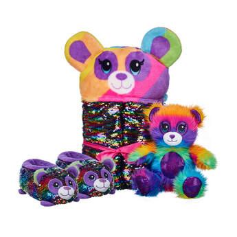 Fuzzy Rainbow Panda Deluxe Gift Set, , hi-res