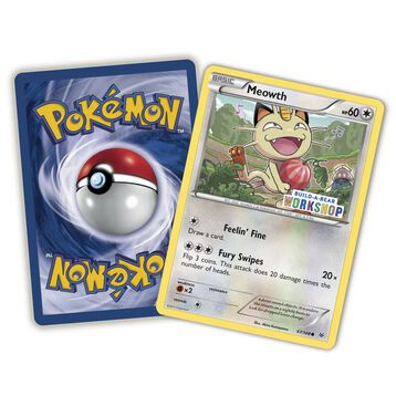 Build-A-Bear Workshop Exclusive Pokémon Meowth TCG Card, , hi-res