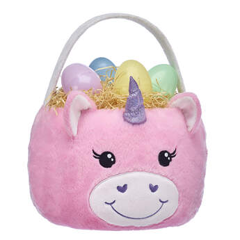 Online Exclusive Pink Unicorn Easter Basket - Build-A-Bear Workshop®