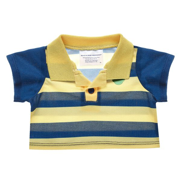 Blue & Yellow Polo Shirt, , hi-res