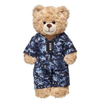 digital camo stuffed animal clothes on teddy bear