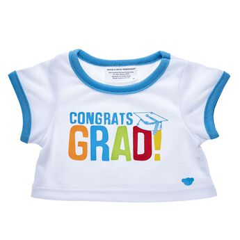 This adorable grad tee shirt for stuffed animals makes a great gift for the special graduate in your life. Outfit a furry friend online to make the perfect gift. Make your own your own stuffed animal online with our Bear Builder or visit a store near you.