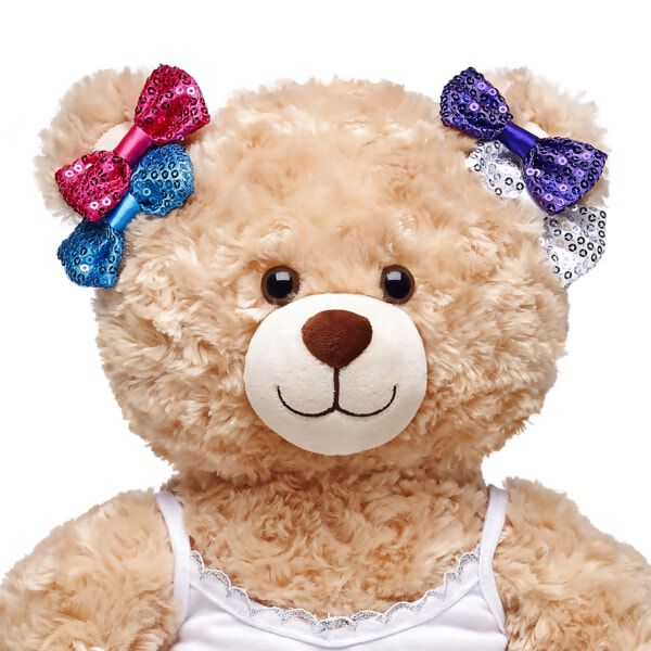 Multicolour Sparkle Bow Set 4 pc., , hi-res