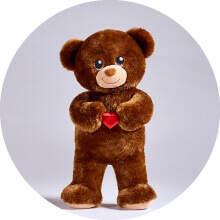 Person holding Build-A-Bear heart