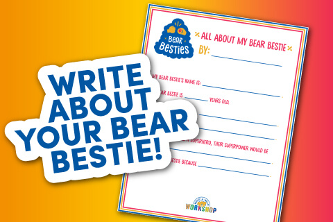 Write About Your Bear Bestie! Thumbnail of activity sheet