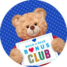 Bear holding Bonus Club sign