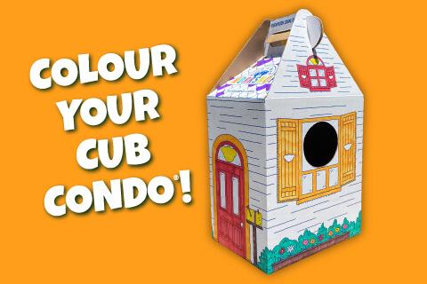 Color Your Cub Condo! Photo of cub condo