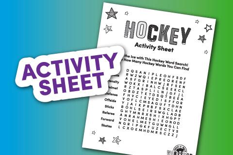 Printable hockey crossword sheet